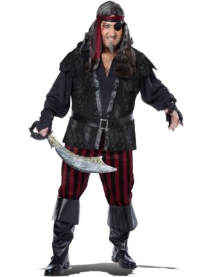 Adult Plus Size Ruthless Rogue Pirate Costume