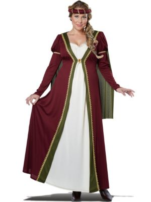 Adult Plus Size Medieval Maiden Costume