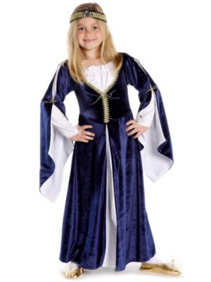 Child Blue Lady Kate Dress with Headpiece