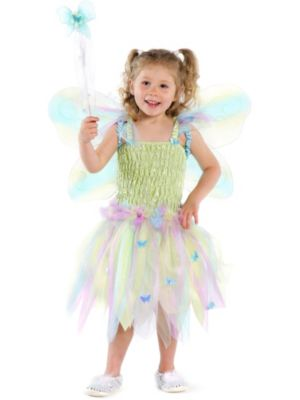 Child Butterfly Dress with Wings and Wand