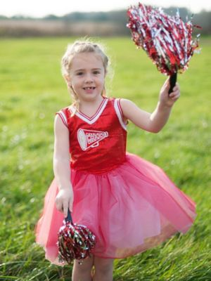 GIRLS RED CHEERLEADER COSTUME