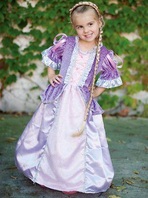 GIRLS LILAC FAIRYTALE PRINCESS COSTUME