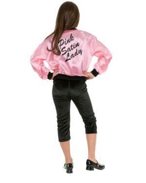 Kids Ladies Satin Jacket In Pink Costume