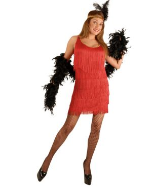Adult Fashion Flapper Red Costume