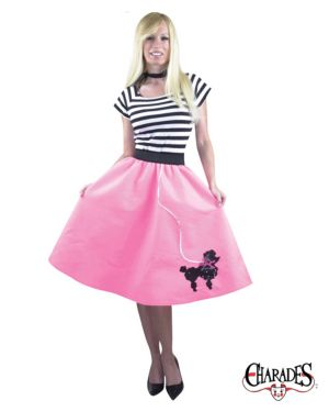 Adult 50s Poodle Skirt