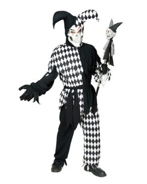 Evil Jester Costume for Adult