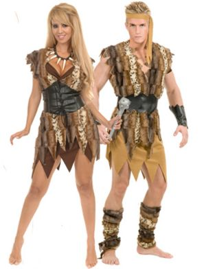 Cavewoman Adult Couple Costume