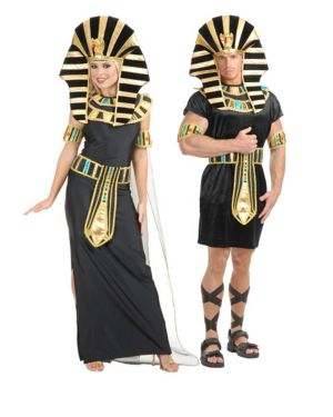 Adult Black and Turquoise Nefertiti Couples Costume