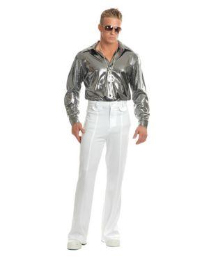 Adult Silver Nail Head Disco Shirt