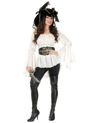 Adult Pirate Lady Vixen Blouse Costume
