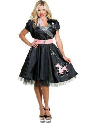Adult Satin Poodle Dress Costume