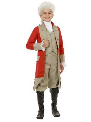 Red Coat British Child Costume