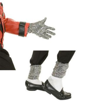 Adult Michael Jackson Sequin Glove and Leggings