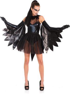 Sexy Adult Black Raven Swan Costume
