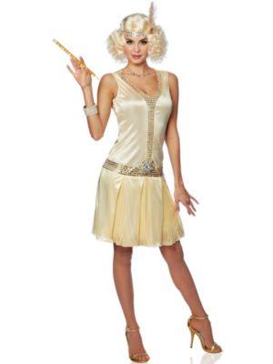 Adult 20's Debutante Flapper Dress Costume