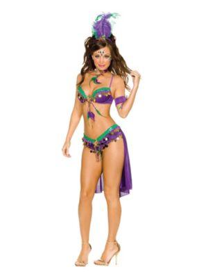 Sexy Mardi Gras Queen Women's Costume
