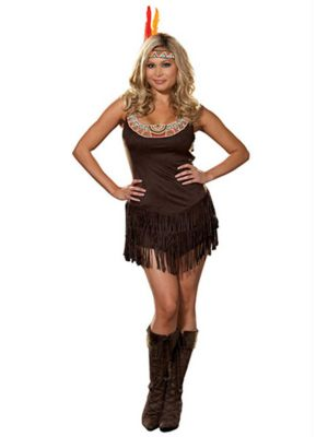Sexy Pocahottie Womens Plus Size Costume