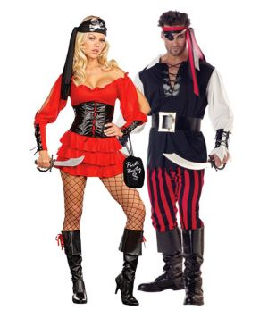 Sexy Pirate Wench Couple Costume