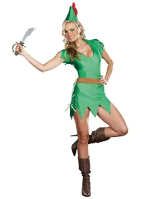 Adult Sexy Pretty Peter Pan Costume