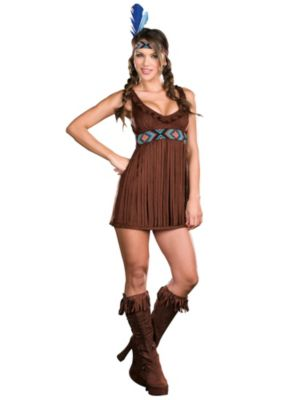 Adult Sexy Tribal Trouble Indian Costume