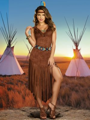 Sexy Hot on the Trail Native American Indian Women's Costume