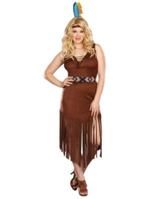 Sexy Adult Hot On The Trail Plus Size Costume