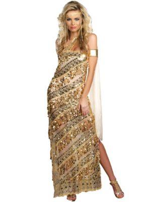 Sexy Golden Goddess Women's Costume