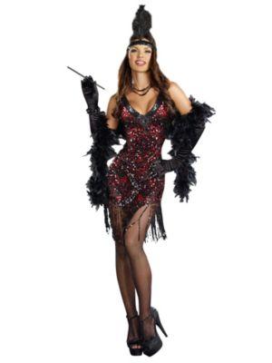Adult Dames Like Us Sequin Flapper Costume