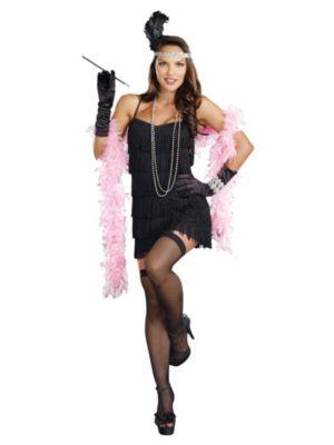 Sexy Adult Black Flapper Costume