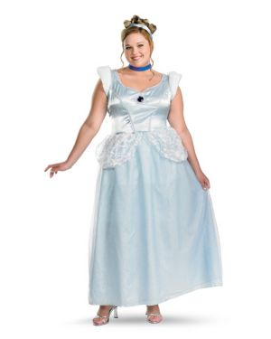 Adult Plus Deluxe Cinderella Costume