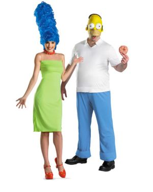 Adult Deluxe the Simpsons Marge Couples Costume