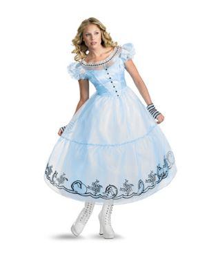 Adult Deluxe Alice In Wonderland Movie Alice Costume