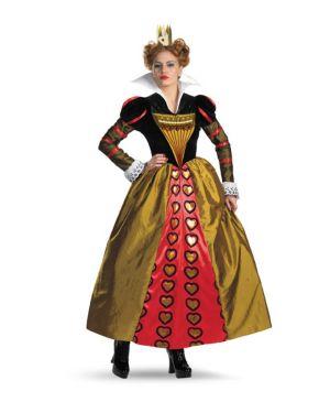 Adult Deluxe Alice In Wonderland Movie Red Queen Costume
