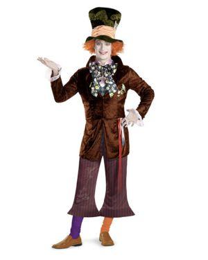 Adult Prestige Alice In Wonderland Movie Mad Hatter Costume
