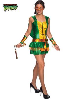 Adult Sassy Deluxe Teenage Mutant Ninja Turtles Michelangelo Costume