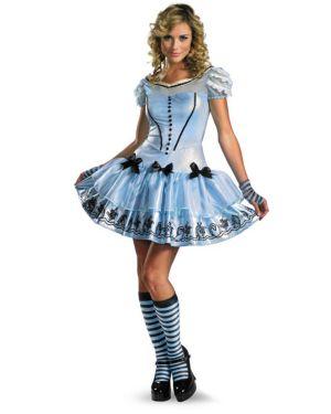 Adult Sassy Blue Disney Alice In Wonderland Movie Costume