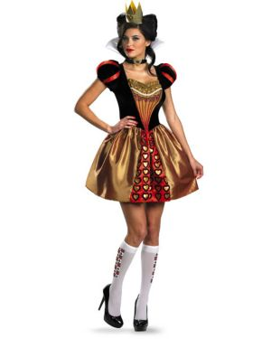 Adult Sassy Disney Alice In Wonderland Movie Red Queen Costume