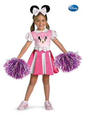Child Disneys Minnie Mouse Cheerleader Costume