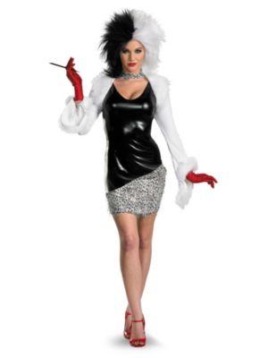 Adult Sassy Disney Cruella De Vil Costume