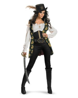Adult Deluxe Pirates of the Caribbean Angelica Costume