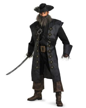 Adult Deluxe Pirates of the Caribbean Black Beard Costume