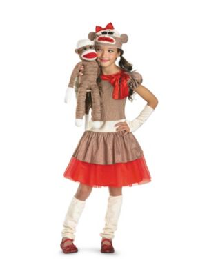 Girl Reindeer Costume Sock Monkey Costume For Girls