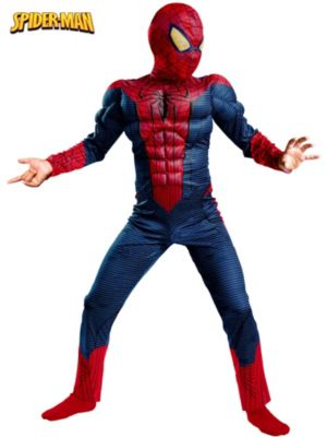Child Spider-Man Movie Classic Muscle Costume