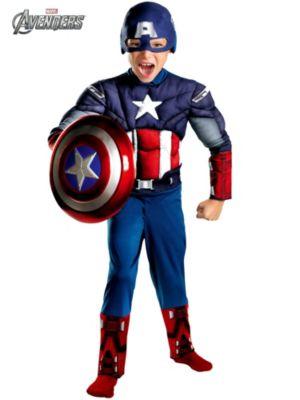 Child Captain America Avengers Classic Muscle Costume