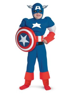 Muscle Chest Captain America Boys Costume