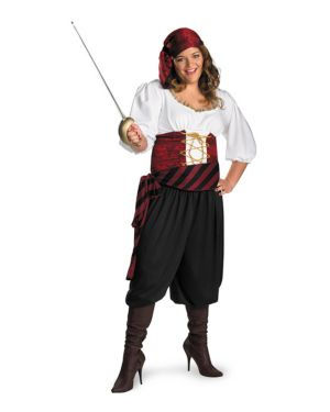First Mate Womens Plus Size Pirate Costume