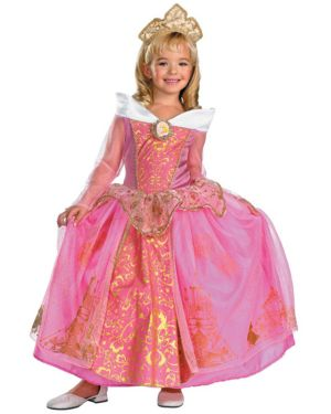 Prestige Disney Aurora Girls Costume