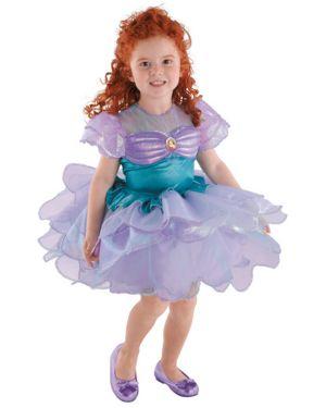 Disney Ballerina Ariel Girls Costume