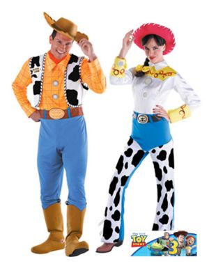 Deluxe Adult Toy Story Jessie Couple Costume