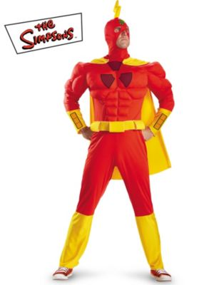 Adult The Simpsons Radioactive Man Classic Muscle Costume